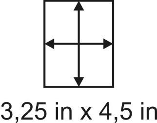 2mm zöllige Holzbase 3,25 x 4,5
