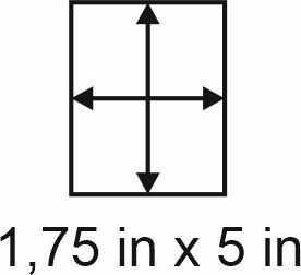 2mm zöllige Holzbase 1,75 x 5