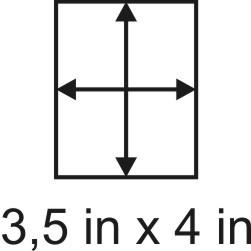 2mm zöllige Holzbase 3,5 x 4