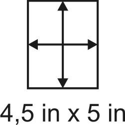 3mm zöllige Holzbase 4,5 x 5