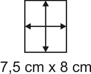 2mm Holzbase 7,5 x 8