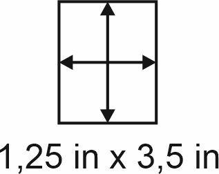 3mm zöllige Holzbase 1,25 x 3,5