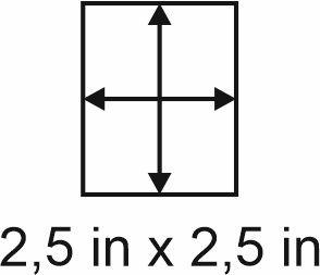 2mm zöllige Holzbase 2,5 x 2,5