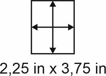 3mm zöllige Holzbase 2,25 x 3,75