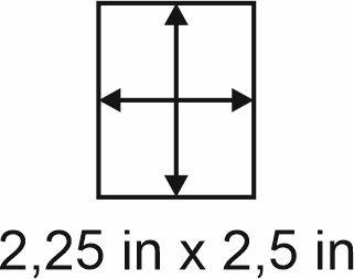 2mm zöllige Holzbase 2,25 x 2,5