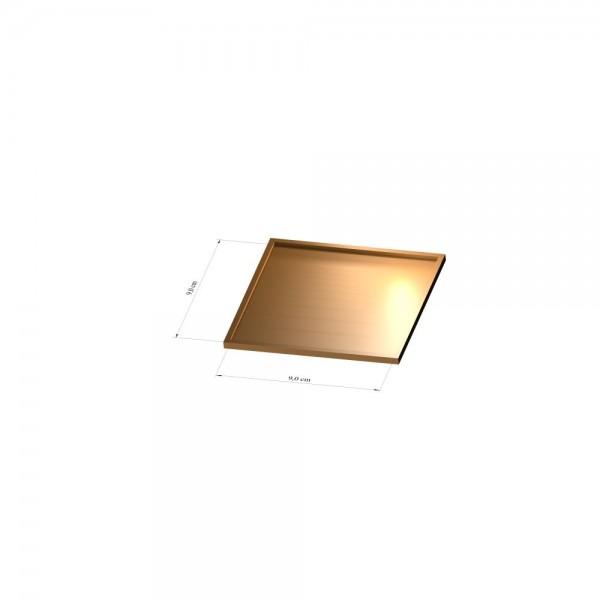 Tray 9 cm x 9 cm, 3mm
