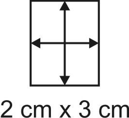 Eckbase 2x3 cm, 3mm dick
