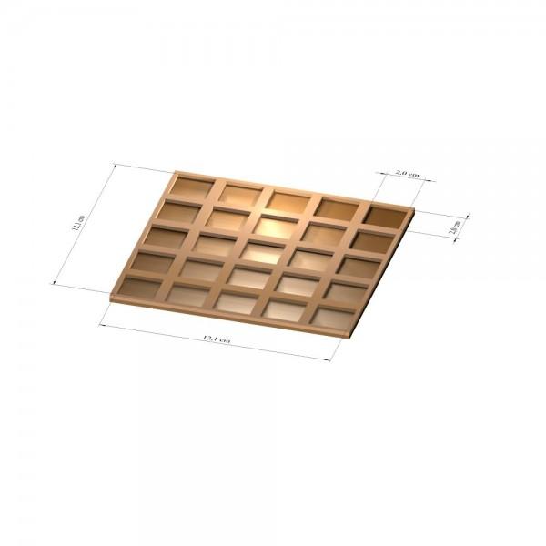 5x5 Tray 25 mm eckig, 3mm