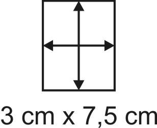 Eckbase 3x7,5 cm, 3mm dick