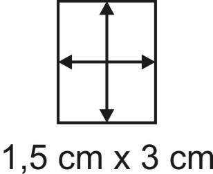 Eckbase 1,5x3 cm, 3mm dick