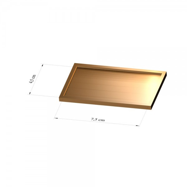 Tray 4,5 cm x 7,5 cm, 2mm