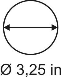 3mm zöllige Rundbase ø 3,25