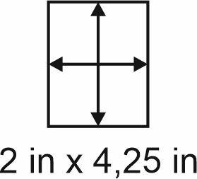 2mm zöllige Holzbase 2 x 4,25