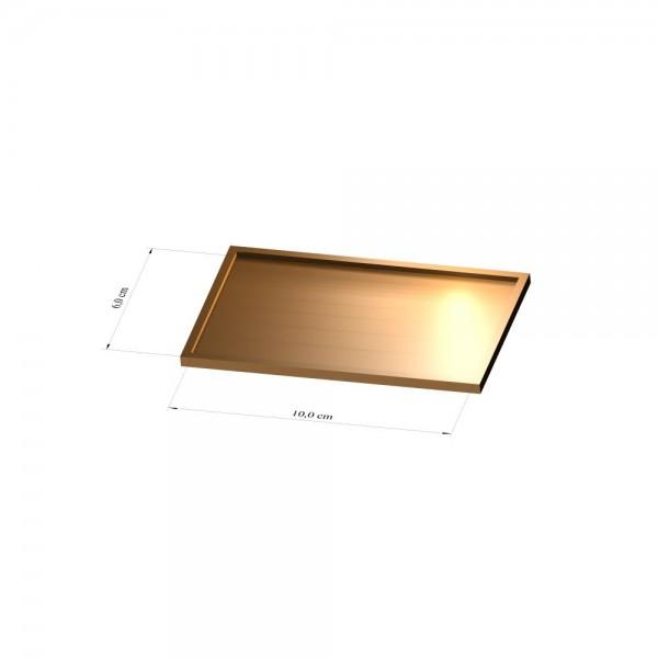 Tray 6 cm x 10 cm, 3mm