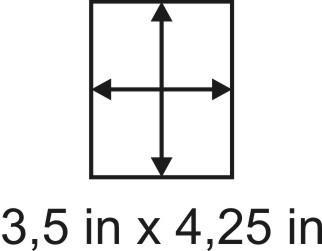 2mm zöllige Holzbase 3,5 x 4,25