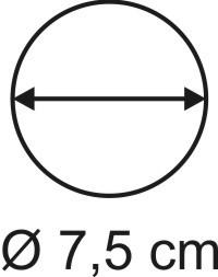 Tabletop Rundbase 7,5 cm, 3mm