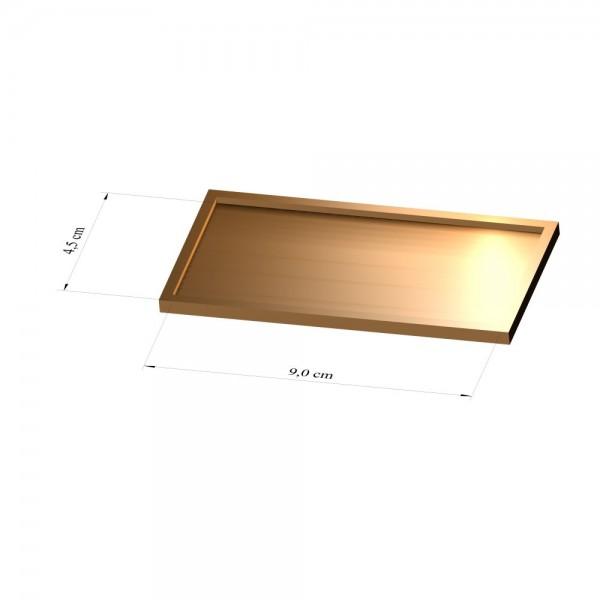 Tray 4,5 cm x 9 cm, 3mm