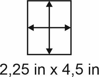 3mm zöllige Holzbase 2,25 x 4,5