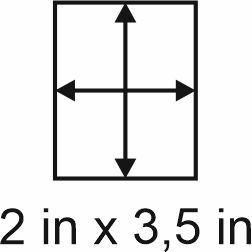 3mm zöllige Holzbase 2 x 3,5