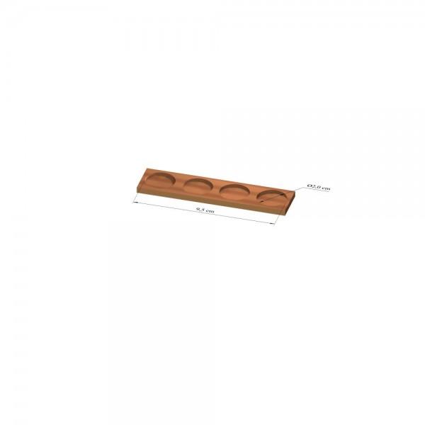 1x4 Tray 20 mm rund, 2mm