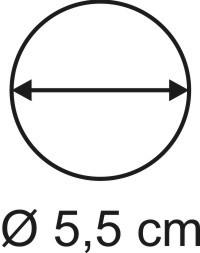 Tabletop Rundbase 5,5 cm, 3mm