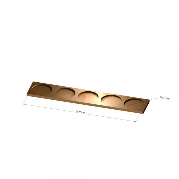 1x5 Tray 32 mm rund, 2mm