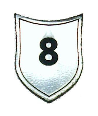 """Zahlenmarker Schild """"8"""", silber"""