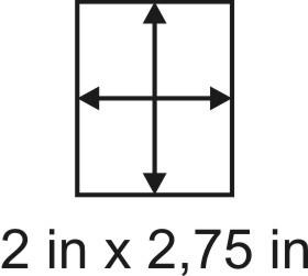 3mm zöllige Holzbase 2 x 2,75