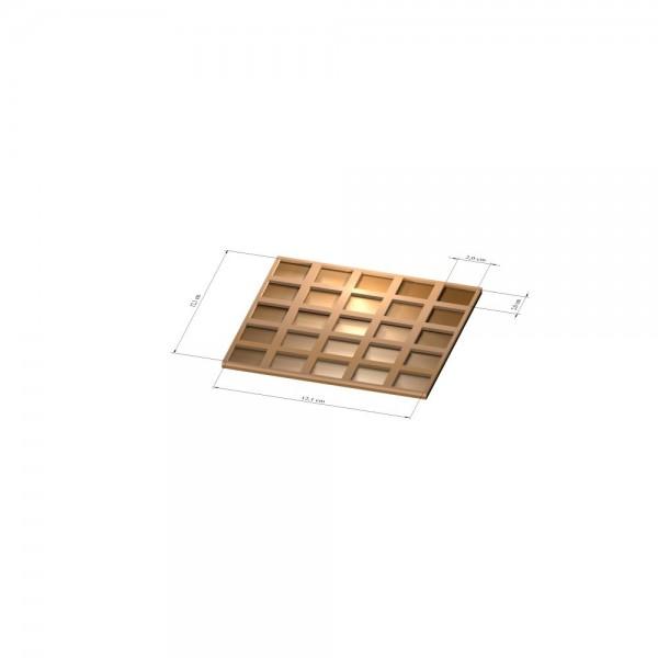 5x5 Tray 20 mm eckig, 2mm