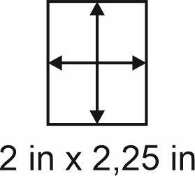 3mm zöllige Holzbase 2 x2,25