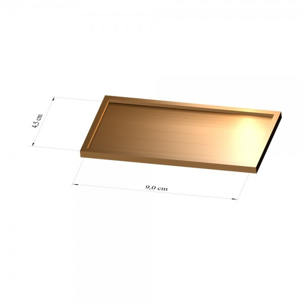 Tray 4,5 cm x 9 cm, 2mm