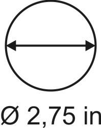 3mm zöllige Rundbase ø 2,75
