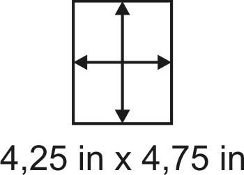 2mm zöllige Holzbase 4,25 x 4,75