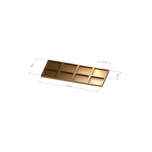 2x4 Tray 32 mm eckig, 2mm