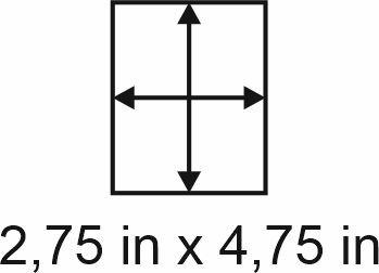 2mm zöllige Holzbase 2,75 x 4,75