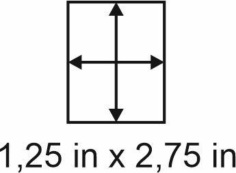 3mm zöllige Holzbase 1,25 x 2,75