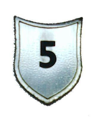 """Zahlenmarker Schild """"5"""", silber"""