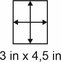 3mm zöllige Holzbase 3 x 4,5