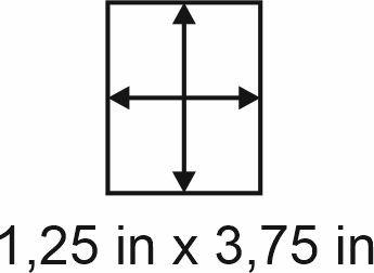 3mm zöllige Holzbase 1,25 x 3,75
