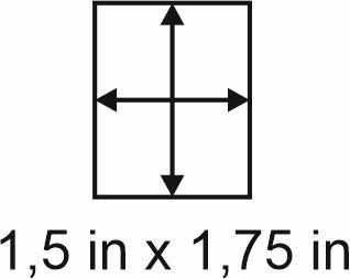 3mm zöllige Holzbase 1,5 x 1,75