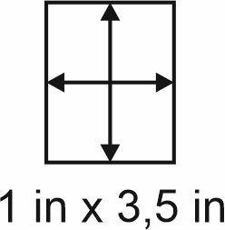 3mm zöllige Holzbase 1 x 3,5