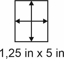 3mm zöllige Holzbase 1,25 x 5