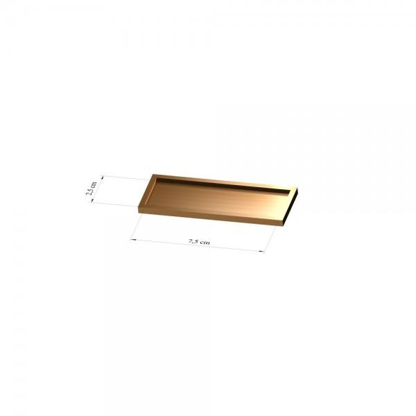 Tray 2,5 cm x 7,5 cm, 2mm