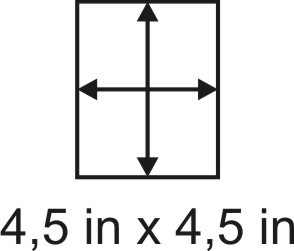 3mm zöllige Holzbase 4,5 x 4,5