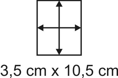 Eckbase 3,5x10,5 cm, 3mm dick
