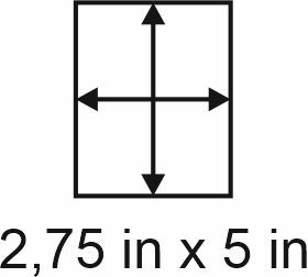 3mm zöllige Holzbase 2,75 x 5