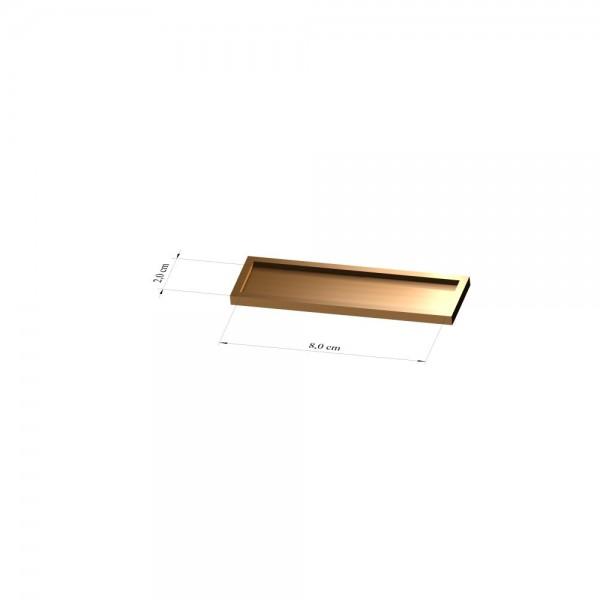 Tray 2 cm x 8 cm, 3mm