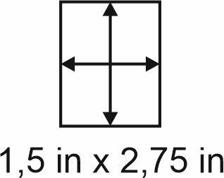 3mm zöllige Holzbase 1,5 x 2,75