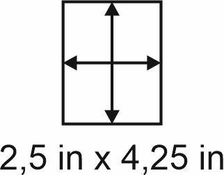 3mm zöllige Holzbase 2,5 x 4,25