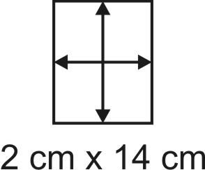2mm Holzbase 2 x 14